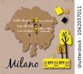 map illustration of milan in... | Shutterstock .eps vector #1062057011