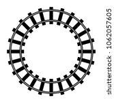 railway  railroad silhouettes... | Shutterstock .eps vector #1062057605