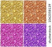 elegant gold and color glitter... | Shutterstock .eps vector #1062058139