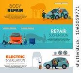 car service horizontal banners... | Shutterstock .eps vector #1062059771