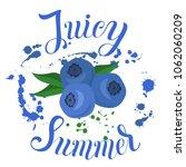 juicy summer inscription on the ... | Shutterstock .eps vector #1062060209