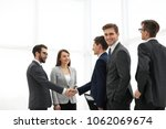 business handshake. two ... | Shutterstock . vector #1062069674