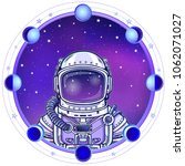 animation astronaut in a space... | Shutterstock .eps vector #1062071027