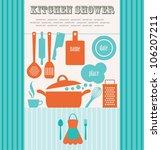 kitchen shower. vector... | Shutterstock .eps vector #106207211