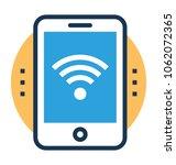 vector icon of a wi fi hotspot ... | Shutterstock .eps vector #1062072365
