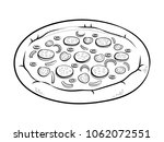 round pizza coloring raster... | Shutterstock . vector #1062072551
