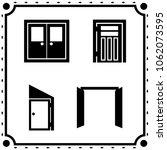 doors icon vector set   Shutterstock .eps vector #1062073595