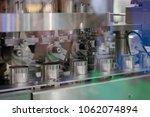 aluminum cans transfer on... | Shutterstock . vector #1062074894