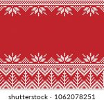 winter holiday fair isle... | Shutterstock .eps vector #1062078251