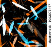 brush strokes and stripes with... | Shutterstock .eps vector #1062078497
