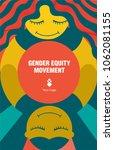gender equity movement | Shutterstock .eps vector #1062081155