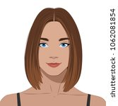 beautiful girl with piercings | Shutterstock .eps vector #1062081854