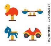 spring rider toys for kids... | Shutterstock .eps vector #1062082814