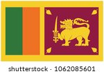 sri lanka flag  official colors ... | Shutterstock .eps vector #1062085601