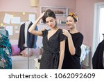 tailor workshop young woman...   Shutterstock . vector #1062092609
