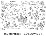 hand drawn doodle fairytale set ... | Shutterstock .eps vector #1062094334