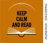 inscription keep calm and read... | Shutterstock .eps vector #1062100961