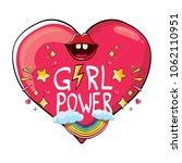 vector girl power label or...   Shutterstock .eps vector #1062110951
