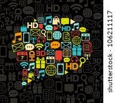 vector communication bubble... | Shutterstock .eps vector #106211117