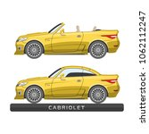 flat car model. luxury... | Shutterstock .eps vector #1062112247