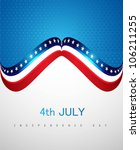 4th july american independence ... | Shutterstock .eps vector #106211255