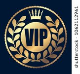 gold round vip rubber stamp... | Shutterstock .eps vector #1062112961