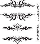 pair of elegant text frames for ...   Shutterstock .eps vector #1062112964