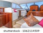 luxury yacht interior...   Shutterstock . vector #1062114509