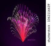 3d firework art. abstract...   Shutterstock .eps vector #1062116639