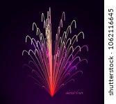 3d firework art. abstract...   Shutterstock .eps vector #1062116645
