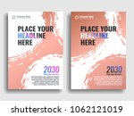 collection of covers with brush ... | Shutterstock .eps vector #1062121019