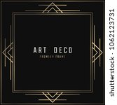 vector card. art deco style.... | Shutterstock .eps vector #1062123731