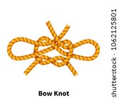 bow sea knot. bright colorful... | Shutterstock .eps vector #1062125801