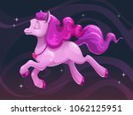 beautiful little cartoon flying ... | Shutterstock .eps vector #1062125951