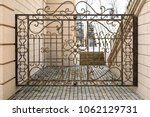 decorative fence in the old... | Shutterstock . vector #1062129731