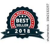 best seller 2018 label... | Shutterstock .eps vector #1062132257