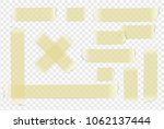 vector adhesive paper tape on... | Shutterstock .eps vector #1062137444