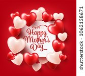 mothers day background with red ... | Shutterstock .eps vector #1062138671