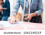 close up woman at garment... | Shutterstock . vector #1062140219