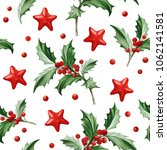 seamless pattern with christmas ... | Shutterstock .eps vector #1062141581