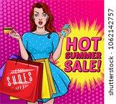 creative discount banner or... | Shutterstock .eps vector #1062142757