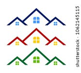 triple rooftop real estate logo ... | Shutterstock .eps vector #1062145115