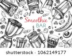vector frame with sketch... | Shutterstock .eps vector #1062149177