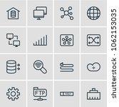 illustration of 16 internet... | Shutterstock . vector #1062153035
