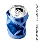 crumpled empty can on white...   Shutterstock . vector #1062160424