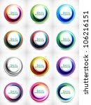 big vector set of abstract... | Shutterstock .eps vector #106216151