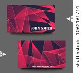 business card template with... | Shutterstock .eps vector #1062161714