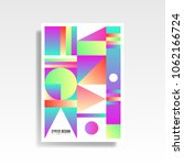 abstract multicolored cover.... | Shutterstock .eps vector #1062166724