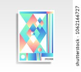 abstract multicolored cover.... | Shutterstock .eps vector #1062166727