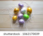 color eggs for holiday easter ... | Shutterstock . vector #1062170039